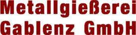 Metallgiesserei Gablenz GmbH Mobile Retina Logo